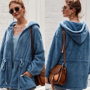 Fuzzy Fleece Zip up Jacket